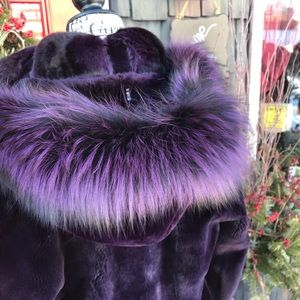 Jackets & Blazers - 💕Fur! eggplant Beaver & Chinchilla